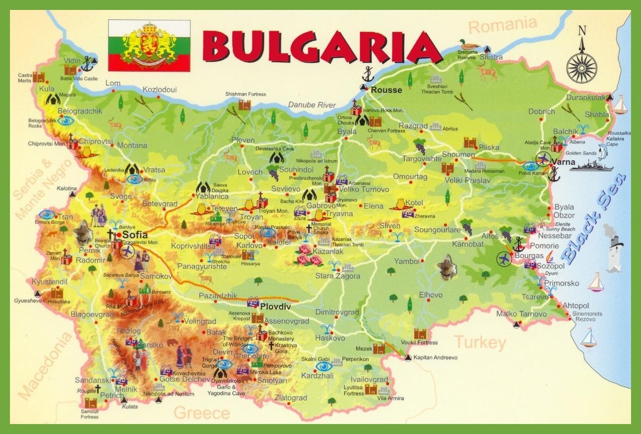 Turisticheska Karta Na Blgariya Blgariya E Plna Karta Iztochna