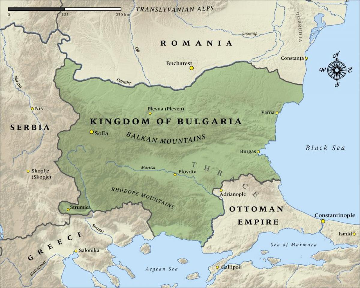 Stara Blgarska Karta Karta Na Stariya Blgarski Iztochna Evropa